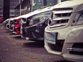 Flotte automobile garée