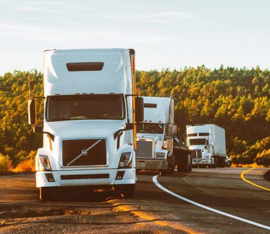 File de camions