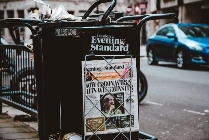 Une d'un journal britannique